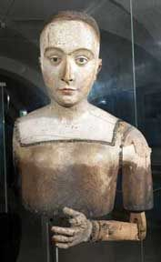 The funeral effigy of Elizabeth of York, Henry VIII's mother. Daughter of Elizabeth Woodville