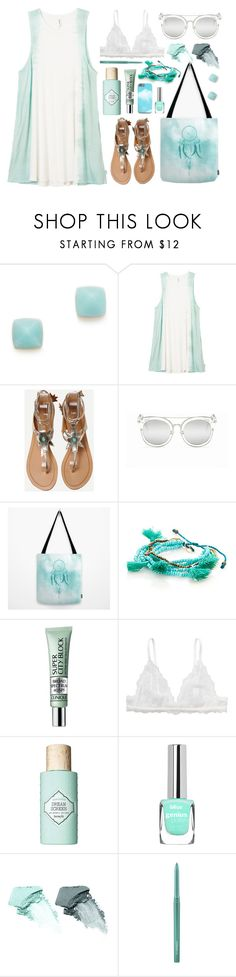"""""""Dye dress"""" by by-jwp ❤ liked on Polyvore featuring Michael Kors, RVCA, Trezo Lavi, Clinique, Monki, Benefit, NARS Cosmetics, MAC Cosmetics, summerstyle and summeroutfit"""