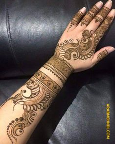 50 Most beautiful Full Hand Mehndi Design (Full Hand Henna Design) that you can apply on your Beautiful Hands and Body in daily life. Henna Tattoo Designs Simple, Finger Henna Designs, Back Hand Mehndi Designs, Latest Bridal Mehndi Designs, Mehndi Designs Book, Mehndi Designs 2018, Mehndi Designs For Girls, Mehndi Designs For Beginners, Mehndi Design Photos