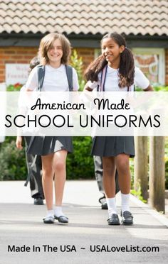 American made school uniforms | Sources for school uniforms