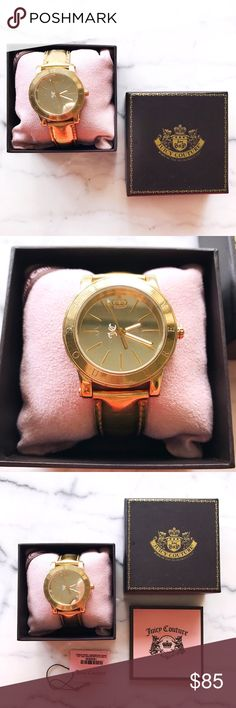 JUICY COUTURE Gold Watch I absolutely love this watch 💗💫 Comes with its original box, little watch pillow, price tag, and paperwork.  Used, has some wear on the band (I know you can replace the band), needs a new battery. The face looks great though!    ✦ bundle & save ✦ please see all the pictures, I take time to take detailed photos so you can see everything! ✦ ask all questions in the comment section, I always reply ✦ feel free to make your best offer   ———  follow me on Instagram…