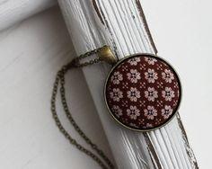 Vintage Fabric Jewelry Boho Jewelry Boho Necklace by TheWhirlwind, $23.00