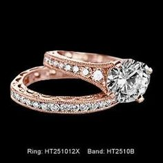 tacori rose gold ring