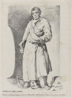 Francisco Goya, Spanish, 1746–1828, After: Diego Velázquez, Spanish, 1599–1660, Aesopus, 1778. Etching, plate: 30 x 21.5 cm (11 13/16 x 8 7/16 in.). The Arthur Ross Collection. 2012.159.34. Photo credit: Yale University Art Gallery.