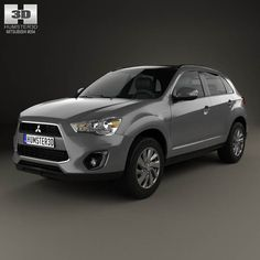 Mitsubishi ASX (RVR) 2013 by The model was created on real car base. It's created accurately, in real units of measurement, qualitatively and maximally clos 4x4, Crossover Cars, Sport Suv, Mitsubishi Cars, Car 3d Model, Japanese Cars, Cinema 4d, 3d Design, Outlander