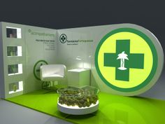 stand farmacias de portugal by Alexandre Tavares, via Behance