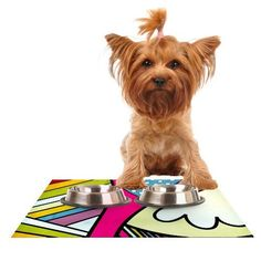 Kess InHouse Danny Ivan 'Fake Colors' Feeding Mat for Pet Bowl, 24 by 15-Inch *** See this great product. (This is an affiliate link and I receive a commission for the sales)