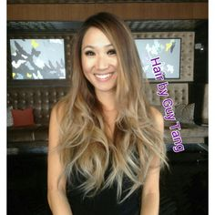Beachy, tussled Ombre look by Guy Tang