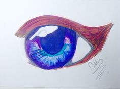 Anime eyes my own drawing