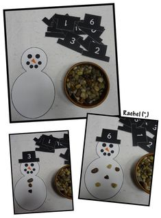 Simple Christmas Printables, to use with children in the early years from Rachel. - Before After DIY