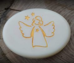 "Christmas Angel Soap Stamp - footprint: 1.57"" x 1.61"" (40mm x 41mm) Plasticine, Friendly Plastic, Custom Stamps, How To Make Notes, Christmas Angels, Footprint, Service Design, Custom Design, Coconut"