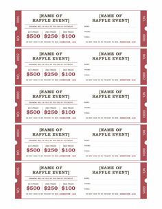 Free Raffle Ticket Templates For Word  Templates