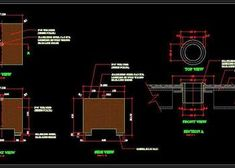 Toilet Plumbing Detail with Pipes and fittings - Autocad DWG Coffee Table 3d, Coffee Table Design, Cad Blocks Free, Pvc Pipe Fittings, Stone Table Top, Pillar Design, Railing Design, Modern Side Table, Square Tables
