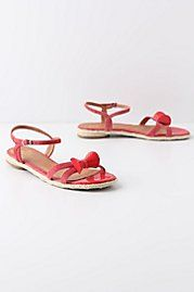 Red bow tie sandals - must get these