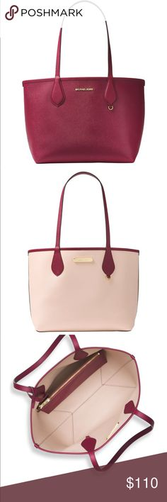 "Michael Kors Saige Medium Reversible Tote Color: Mulberry Soft Pink  Brand new  Size: 16""W x 7""D x 10.5""H, 8.75"" handle drop Michael Kors Bags Totes"