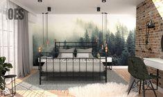 Sypialnia tapeta las - zdjęcie od OES architekci - homebook Porch Swing, Modern Interior Design, Outdoor Furniture, Outdoor Decor, Bedroom Decor, Master Bedrooms, Home Decor, Google, Homemade Home Decor