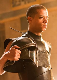 Grey Worm, Game of Thrones. Played by Jacob Anderson. He's got such a nice face.
