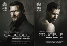 """this advertisement poster could be seen from a sort of subliminal messaging technique which could illustrate at the end of this play """"Everyone's secrets will be laid bare for all to see"""" this image depicts one of the main characters (john proctor) being demoted throughout the play"""