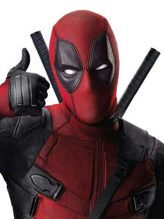 Thumbs up! Ryan Reynolds is Deadpool, 2016  Love that the article is team cap at the end, is old dinosaurs have to stick together