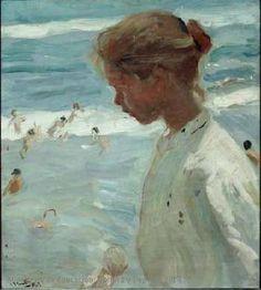 Autor Sorolla Bastida, Joaquín. Título Cabeza de pescadora o Rosa