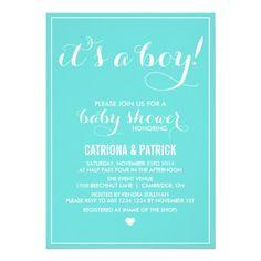 Tiffany Blue It's a Boy Baby Shower Invitation