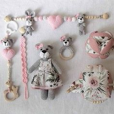 livushka / slečna Macíková -ružovo kvetinková kolekcia Drops Cotton Light, Crochet Toys, Montessori, Coin Purse, Baby, Crocheted Toys, Babies, Baby Humor, Infant