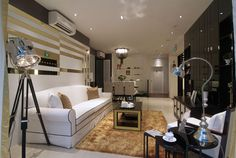 My Manhattan Show flat Interior Design Condo Interior Design, Interior Design Singapore, Apartment Interior, Living Room Interior, Living Room Decor, Cluster House, New Condo, New Property, Cool Apartments