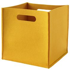 Once More with Felting Cube Bin (Yellow) in Bins & Baskets | The Land of Nod