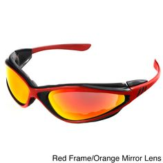 Polycarbonate lens offers 100-percent UV protection on this foam sport wrap. Foam protects eyes from wind and dust, while side temples are removable, offering more air ventilation if needed. Available