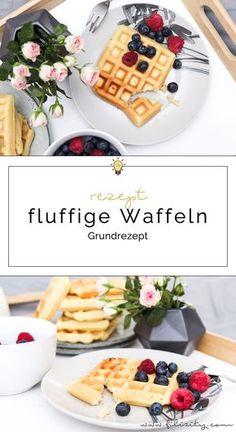 Waffeln zum Frühstück oder zum Kaffee? Mit diesem Grundrezept wird der Waffelteig außen knusprig, innen fluffig. Ob mit Sahne oder Obst - ein wahrer Genuss!