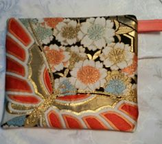 Vintage Japanese Obi Bag Pouch Tablet Cover by JapaneseObiDesigns