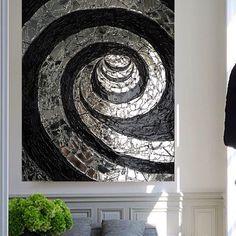 INFINITY – купить в интернет-магазине на Ярмарке Мастеров с доставкой Texture Painting On Canvas, Canvas Art, Big Wall Art, Mirror Mosaic, Sculpture Painting, Picture Wall, Photo Art, Modern Art, Cool Art