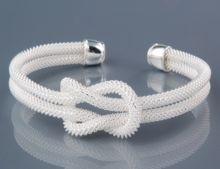 Silver Plated Cupronickel Alloy Love Knot Cuff Bracelet - gift for  bridesmaids 1d624e4e24e9a