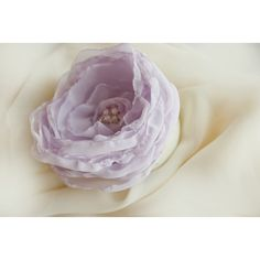 Sweet Annie pale lilac flower hairclip or brooch ($16) found on Polyvore