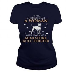 Miniature Bull Terrier T Shirts, Hoodies. Get it now ==► https://www.sunfrog.com/LifeStyle/Miniature-Bull-Terrier-126197288-Navy-Blue-Ladies.html?57074 $23