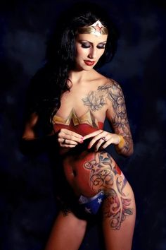 If the wonder woman part is a tat also.... wow...