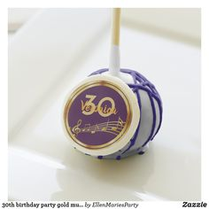 30th birthday party gold music notes on purple cake pops Purple Cake Pops, Purple Cakes, Holiday Party Themes, Holiday Parties, Ideas Party, Music Note Cake, Music Notes, 30th Birthday Parties, Cake Birthday