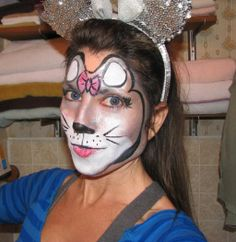 Mouse Face Painting | Mouse face paint Mouse Face Paint, Mouse Make Up, Fancy Dress, Dress Up, Halloween Make Up, Halloween Ideas, Costume Dress, Hair Beauty, Face Paintings
