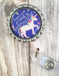 Unicorn badge reel - ID badge reel - Work badge - Oncology nurse - Pediatric nurse - Childrens nurse - Be a unicorn - Magical unicorn by Shaebugs on Etsy