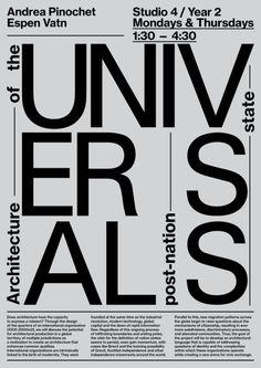 aritamatos:Poster for architecture classes. For Andrea Pinochet....
