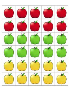 Apple Counting Mats by Pocketful of Centers Montessori Color, Montessori Activities, Preschool Learning, Preschool Activities, Teaching Kids, Kindergarten Math Worksheets, Worksheets For Kids, In Kindergarten, September Preschool