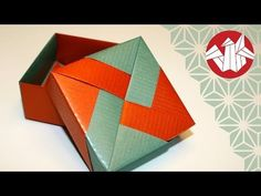 How to make a Paper Box - easy paper box HD Tutorial - YouTube