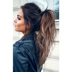 Pinterest ❤ liked on Polyvore featuring hair, hairstyles and ponytail