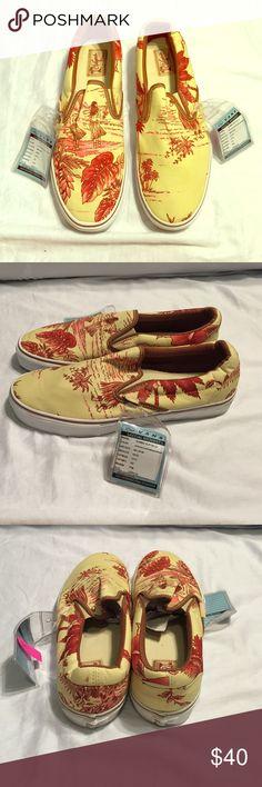 Men's Vans Slip Ons- Hoffman Print Brand New Men's Vans. Size 12 Vans Shoes Sneakers