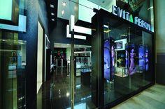 Danish fashion and accessories brand EVITA PERONI, seen here at the brand new Dubai Mall. EVITA PERONI® is an independent, fashion accessories retail brand