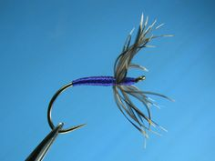 Tenkara - Starling and Purple Kebari - by William Anderson - williamsfavoritedesign.com - (soft hackle fly fishing) - Soft Hackle fly patterns for trout. Wet Fly pattern