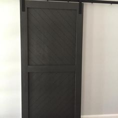 Modern Diagonal Panel Barn Door