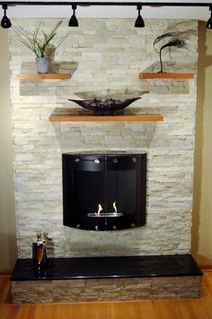 Sydney Yellow Rough Break Fireplace Feature