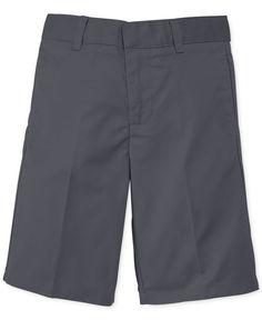 French Toast Boys' Uniform Husky Fit Flat-Front Shorts Boys Uniforms, School Uniforms, Kids Shorts, Husky, Bermuda Shorts, Baby Kids, Flats, Fitness