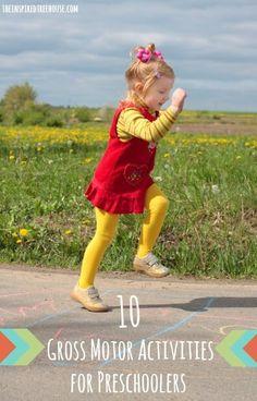 10 gross motor activities for preschoolers title